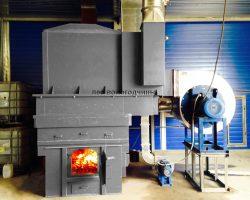 Твёрдотопливный теплогенератор работает на твердом топливе.