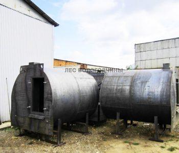 Углевыжигательная печь трёхкамерная