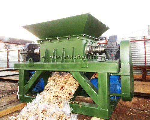 Шредер дробилка древесных отходов